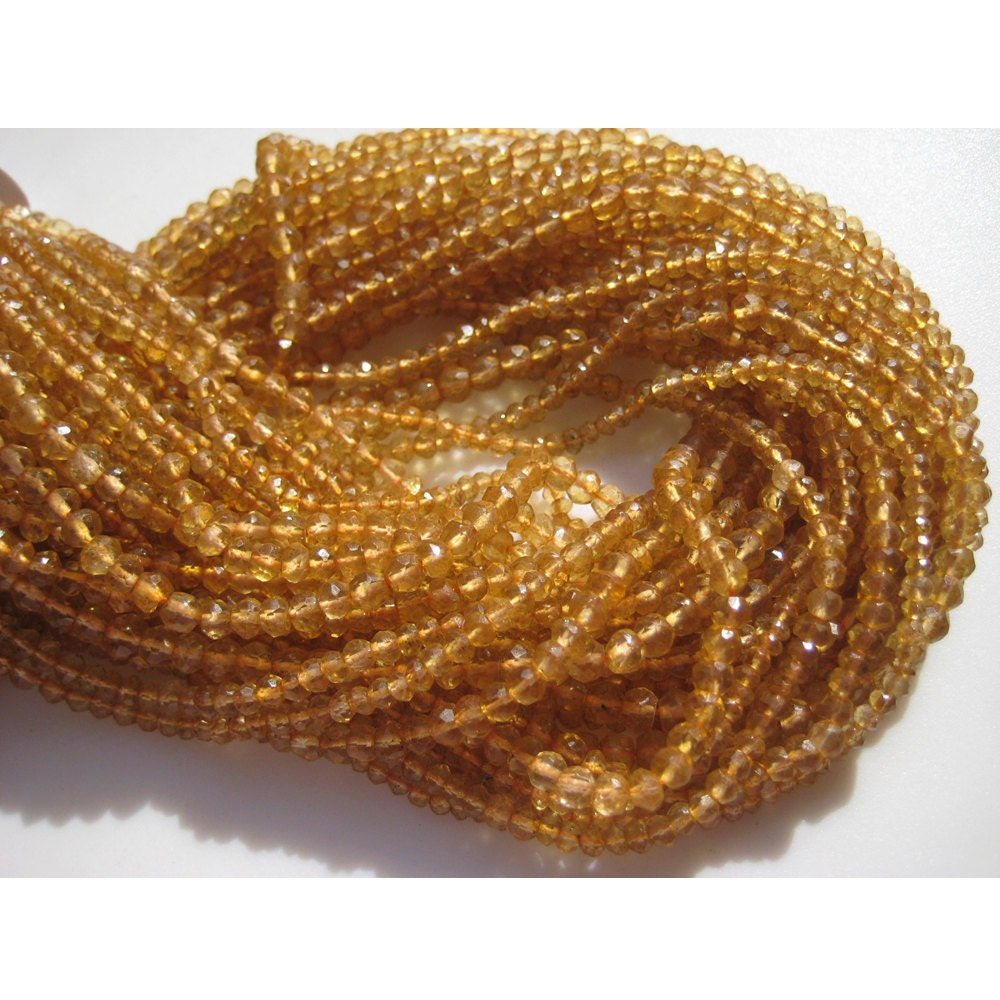 citrine micro faceted coated quartz rondelle beads 3mm beads 13 inch strand from. Black Bedroom Furniture Sets. Home Design Ideas