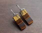 TIGER - tigereye sterling geometric earrings