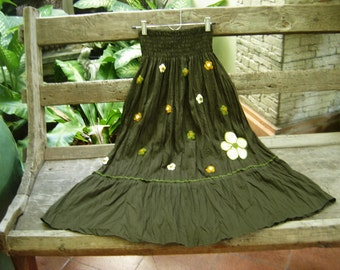 Nothing to Worry About Long Skirt III - Dark Olive