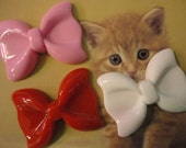 Kawaii cute big bow decoden deco diy charm cabochons   3 pcs---USA seller