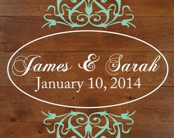 Wedding Decor - Wedding Decals - Wedding Signs - Dance floor decal - Dance floor monogram - wall stickers - wall decals - decals