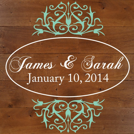 Wedding Dance Floor Decal by luxeloft