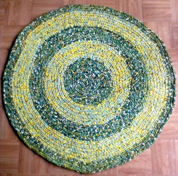 reserved terri crocheted round rag rug in john deere green 35