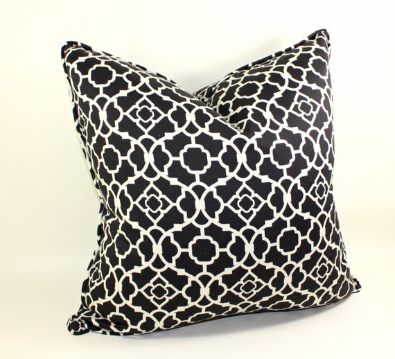 On Sale, Black and White Pillow Cover, Cushion, Cotton Pillow, Toss Pillow