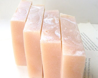 Handmade Soap, Magnolia Peach Soap with Shea and Cocoa Butter
