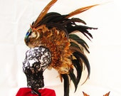 Wasteland Prowler Feather Mohawk Headdress
