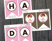 Spa Party Birthday Banner - INSTANT DOWNLOAD