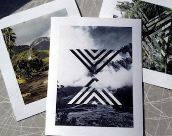 Mini Print Set Collages P S Y C H Collection Reproduction Art Vintage
