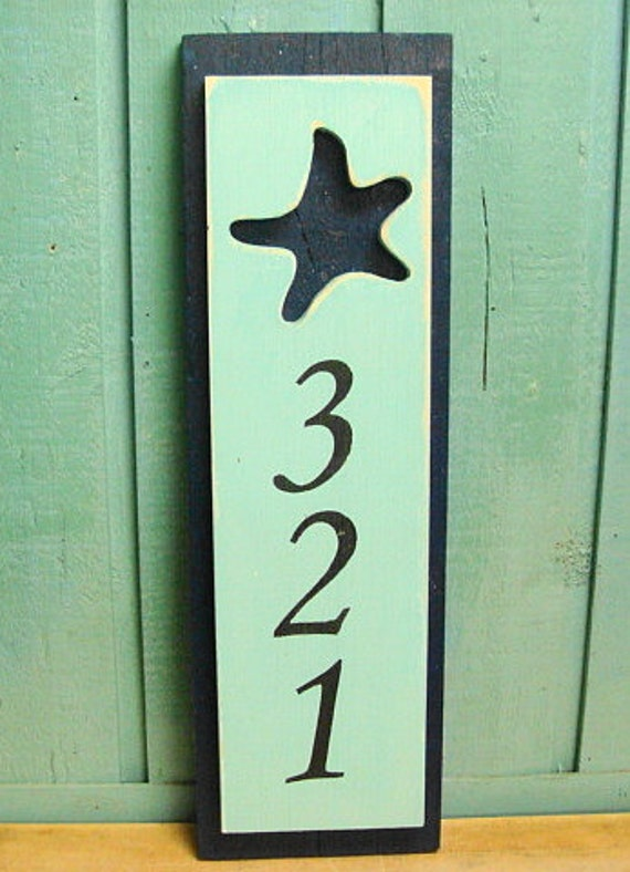 House Number Address Sign Beach Lake House Nautical By