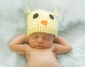 Little Baby Chickie- chick hat, quack, duck