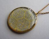 Japanese washi // Honeycomb pendant