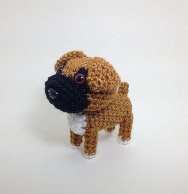 Amigurumi Boxer Dog : Boxer Amigurumi Dog Crochet Dog Handmade Stuffed Animal Doll