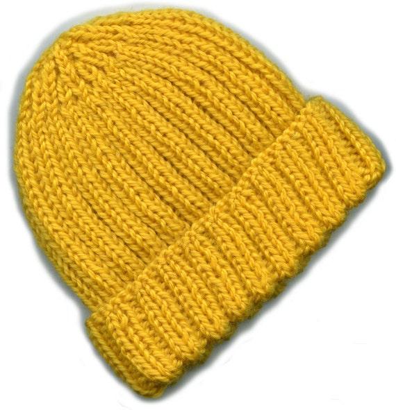 Watch Cap Knitting Pattern : Hand Knit Pattern, Watch Cap, Knitting Pattern PDF, Baby ...