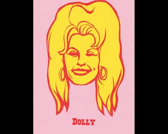 Dolly Parton- Outlaw Country portrait print