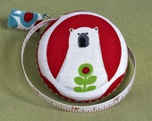 Polar Bear Tape Measure - red