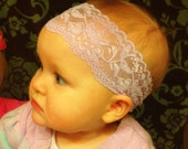Gorgeous Lavender Lace Headband
