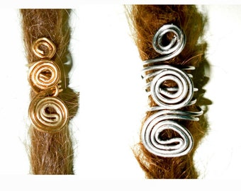 swirly spiral dread bead