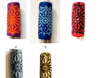 select color: mandala dread bead tube