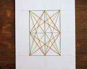 Geometric Pattern, Diamond,  Embroidered Paper, Embroider