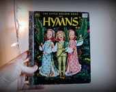 vintage a little golden book book of hymns childrens book