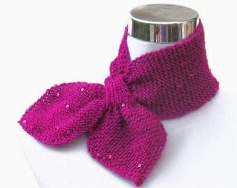 scarflettes tricot paillettes foulard r tro ann es 50 style cravate foulard en fil de paillettes. Black Bedroom Furniture Sets. Home Design Ideas