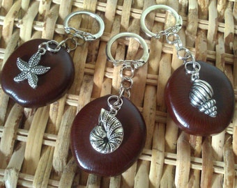 Guam Chamorro Rare Bajogo Seed Nautical Charm Key Chain Jewelry - CHOOSE YOUR CHARM