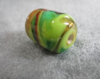 Rainforest, Lampwork Glass Bead