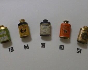 Vintage Antique Advertising - Sample Powder Tins
