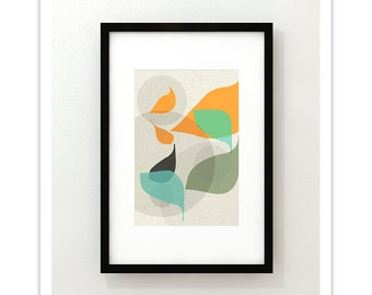 FLOW no.23 - Giclee Print - Mid Century Modern Danish Modern Style Minimalist Modernist Eames Abstract