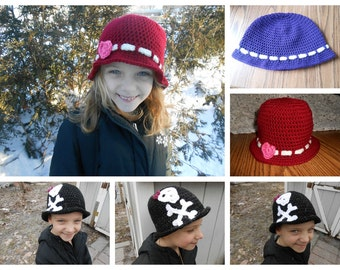 The Cloche Hat (Size Toddler, Child, or Adult)