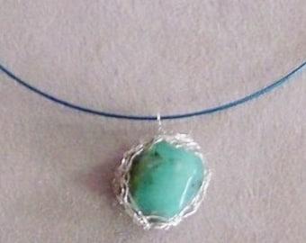 Crocheted Adventurine Necklace