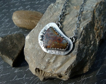 Sterling Silver Agate Cabochon Handmade Pendant