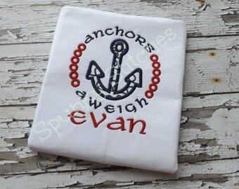 Anchors Aweigh Embroidery files 3 sizes