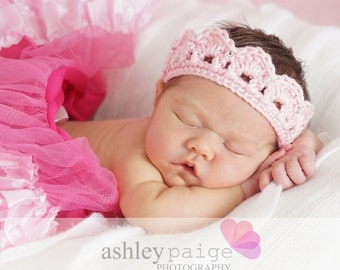 Baby TIARA CROWN Girls Headband Newborn 0 3 6 Months