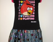 Angry Birds Dress Upcycle