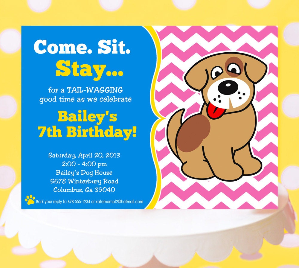 Puppy Party Invitations can inspire you to create best invitation template