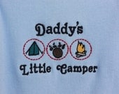 Onesie Baby Clothes Daddy's Little Camper embroidered design (JL058)