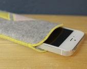 einzigartige iPhone 5 Hülle - Handytasche - 100% Wollfilz - Stoff