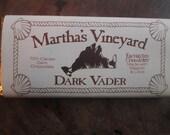 Dark Chocolate Bar Dark Vader 70% Cacao Enchanted Chocolates of Martha's Vineyard Island Embossed.