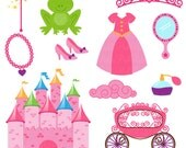 Princess Fairytale Clipart Clip Art, Storybook Clip Art Clipart Vectors - Commercial and Personal Use