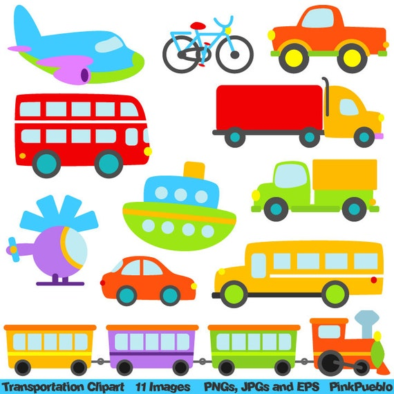 Well-liked Transportation Clip Art Clipart with Car Truck Train RZ24