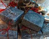 ROUGH STUFF: Black Magic Black Mud Charcoal Salt Facial Soap - 5-6 oz.
