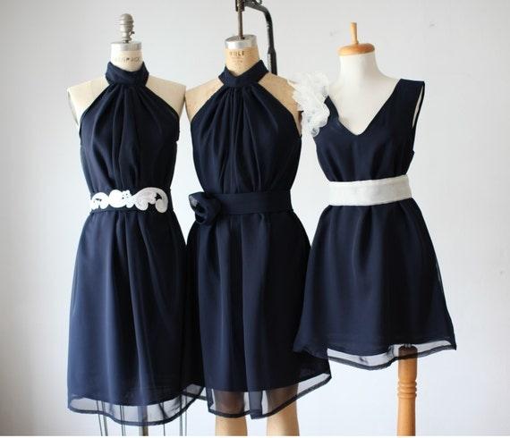 mix  bridesmaid dresses  / Romantic / lace /navy   / dresses /Fairy / Dreamy / Bridesmaid / Party / wedding / Bride /
