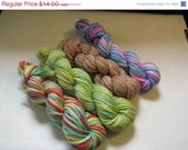 On Sale- 60% off- Mini Skein Lot 4- Four 45 yard mini skeins