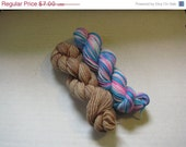 On Sale- 60% off- Mini skein lot 1- two 45 yard mini skeins