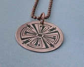 Haven Guard tattoo copper circle pendant