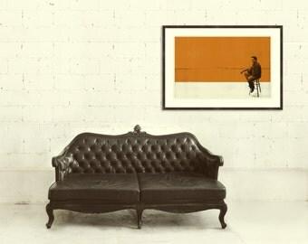 MEMPHIS CASH - Johnny Cash 30 x 20 Handprinted Silkscreen Art Print, Modern Poster, Retro Home