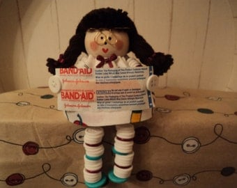 Nurse Doll with Button Arms and Legs