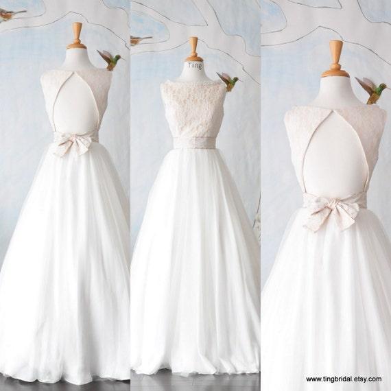 I Do I Do Wedding Gowns: Yes I Do Wedding Gown-Custom Boat Neck Open Back Full A Line