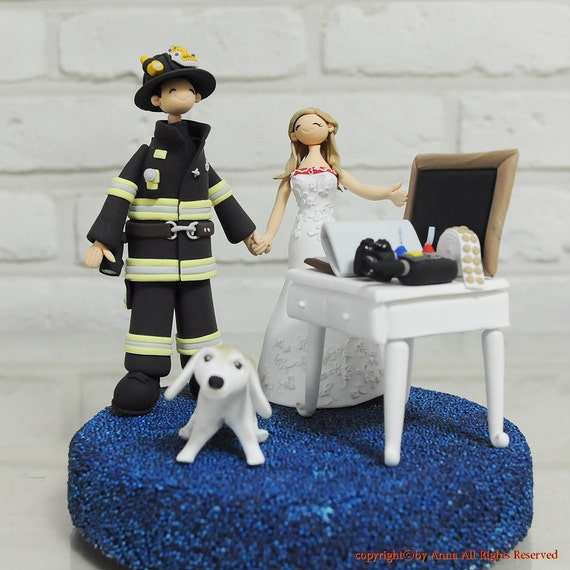 fire truck wedding cake toppers items similar to fighter custom wedding cake 14279